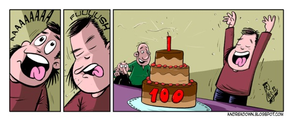 Celebrando las 100 tiras de Andrea Down